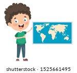 little school student studying... | Shutterstock .eps vector #1525661495