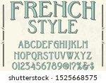 abc font alphabet  alphabet... | Shutterstock .eps vector #1525668575
