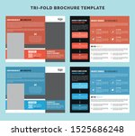 creative trifold business...   Shutterstock .eps vector #1525686248