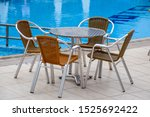 Metal Tables And Chairs With...