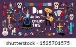 day of dead  dia de los muertos ...   Shutterstock .eps vector #1525701575