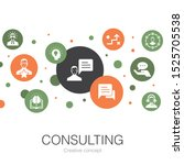 consulting trendy circle...