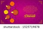 diwali or deepawali india... | Shutterstock .eps vector #1525719878