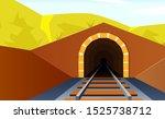 tunnel road concept. horizontal ... | Shutterstock .eps vector #1525738712