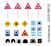 tunnel signs. set of road signs ... | Shutterstock .eps vector #1525738715