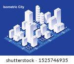 isometric city vector.smart... | Shutterstock .eps vector #1525746935