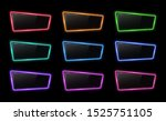 colorful neon frame set with... | Shutterstock . vector #1525751105