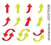 vector popular arrow sticker... | Shutterstock .eps vector #152575508