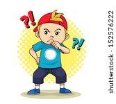 curious boy. vector eps10. | Shutterstock .eps vector #152576222
