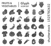 fruits and vegetables glyph... | Shutterstock .eps vector #1525782632