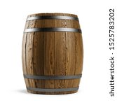 Wooden Barrel Isolated On Whit...