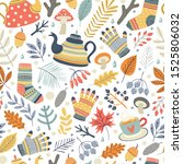 autumn pattern. can be used as... | Shutterstock .eps vector #1525806032