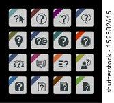 help icon set   Shutterstock .eps vector #152582615