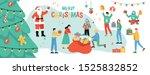 set of cartoon happy young... | Shutterstock .eps vector #1525832852