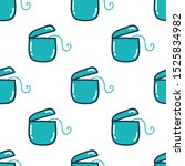 dental floss seamless doodle...   Shutterstock .eps vector #1525834982