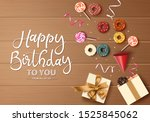 happy birthday greeting card... | Shutterstock .eps vector #1525845062