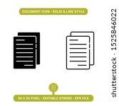 document icons set vector...