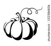 Pumpkin. Vector Black...