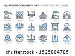 popular cuisines related ... | Shutterstock .eps vector #1525884785