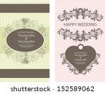 wedding invitation | Shutterstock .eps vector #152589062