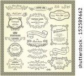 set of vintage design elements | Shutterstock .eps vector #152589662