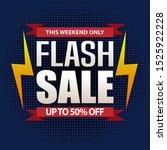 flash sale design for business... | Shutterstock .eps vector #1525922228
