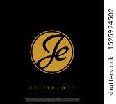 letter je logo initial emblem...   Shutterstock .eps vector #1525924502