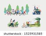 set of active weekend... | Shutterstock .eps vector #1525931585