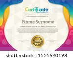 certificate template with... | Shutterstock .eps vector #1525940198
