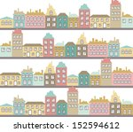 vector seamless pattern with... | Shutterstock .eps vector #152594612