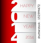 happy new year 2014 red and... | Shutterstock .eps vector #152594672
