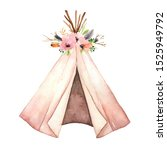 Watercolor Teepee Tent For...