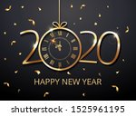 happy new year 2020 vector  ... | Shutterstock .eps vector #1525961195