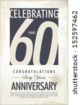 60 years anniversary retro... | Shutterstock .eps vector #152597462