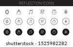 reflection icons set.... | Shutterstock .eps vector #1525982282