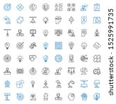 solution icons set. collection... | Shutterstock .eps vector #1525991735
