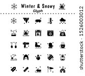 a set of winter and snow themed ...