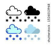snowfall icon. with outline ...