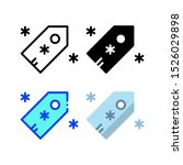 winter shopping promo icon with ...