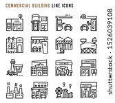 commercial building line icons  ... | Shutterstock .eps vector #1526039108