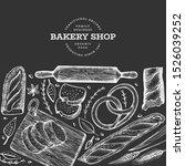 bread and pastry banner. vector ... | Shutterstock .eps vector #1526039252