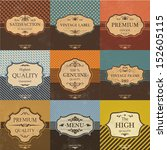 collection of vintage quality... | Shutterstock .eps vector #152605115