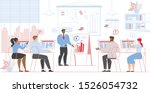 business people sitting at desk ... | Shutterstock .eps vector #1526054732