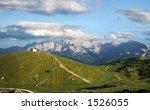 mountains house | Shutterstock . vector #1526055
