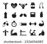 gym icon set pack design ... | Shutterstock .eps vector #1526056085