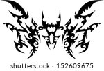 strange tattoo graphics. | Shutterstock .eps vector #152609675