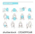 steps how to apply sheet ... | Shutterstock . vector #1526099168