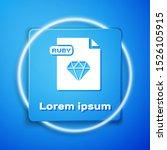 white ruby file document.... | Shutterstock .eps vector #1526105915