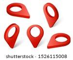 set map pointer 3d pin red... | Shutterstock .eps vector #1526115008