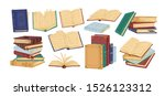 Books Piles Hand Drawn Vector...